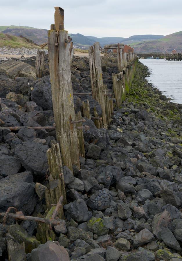 Vecchio bacino in porto Talbot, Galles del sud fotografie stock