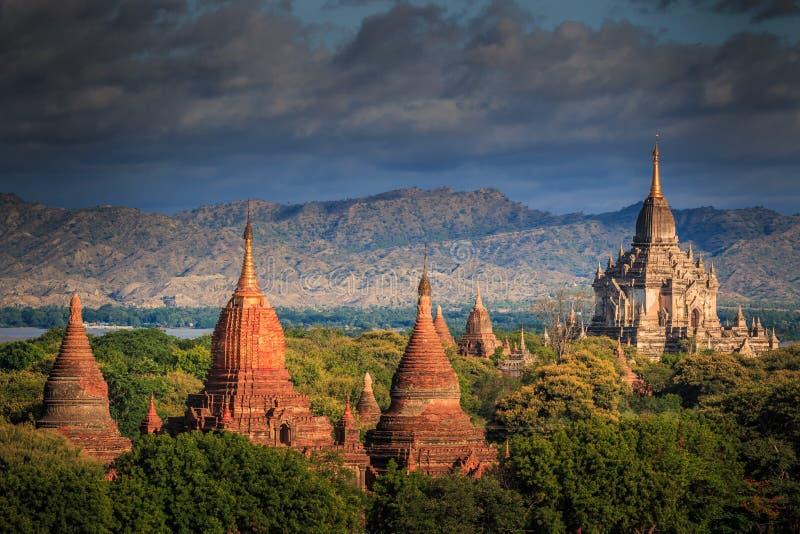Vecchio Bagan in Bagan-Nyaung U, Myanmar immagini stock libere da diritti