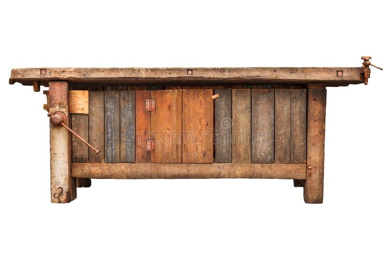 Tavoli Da Lavoro Vecchi : Vecchio banco da lavoro isolato su bianco immagine stock immagine