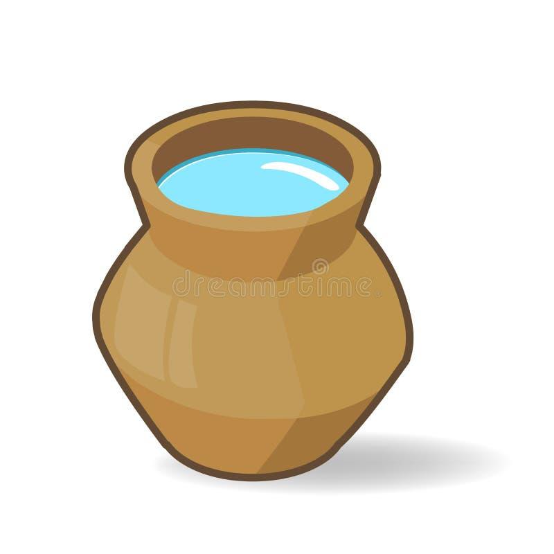Vecchio barattolo dell'argilla illustrazione di stock