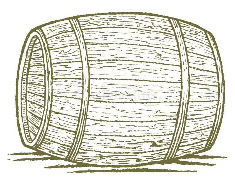Vecchio barilotto royalty illustrazione gratis