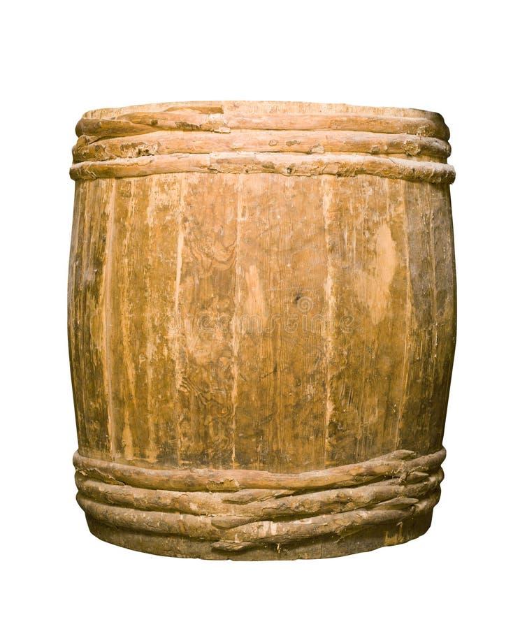 Vecchio barilotto completamente di legno immagine stock libera da diritti