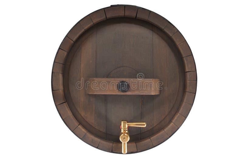 Vecchio barilotto di birra con la spina immagini stock