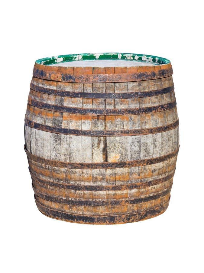 Vecchio barilotto di legno immagine stock libera da diritti