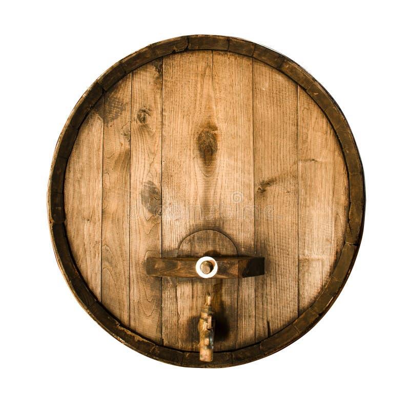 Vecchio barilotto di legno immagine stock