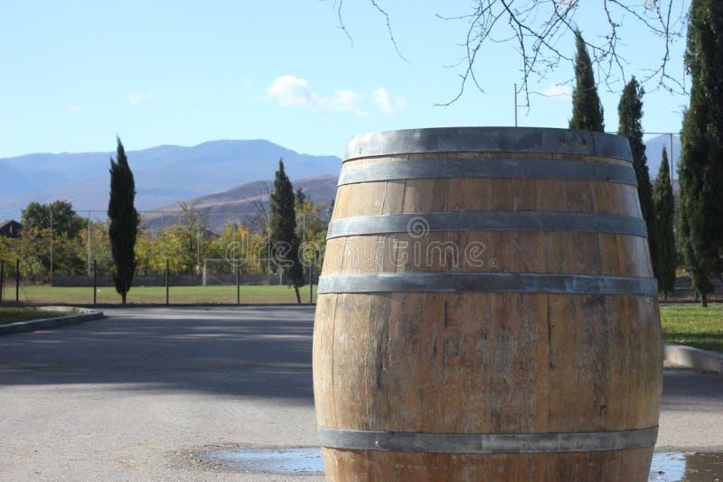 Vecchio barilotto di vino fotografie stock