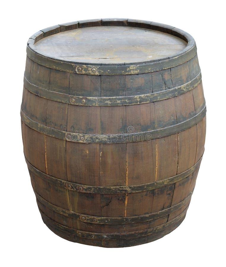 Vecchio barilotto di vino immagine stock