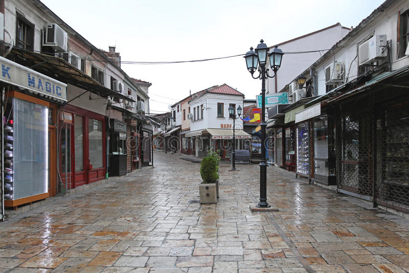 Vecchio bazar di Skopje fotografie stock