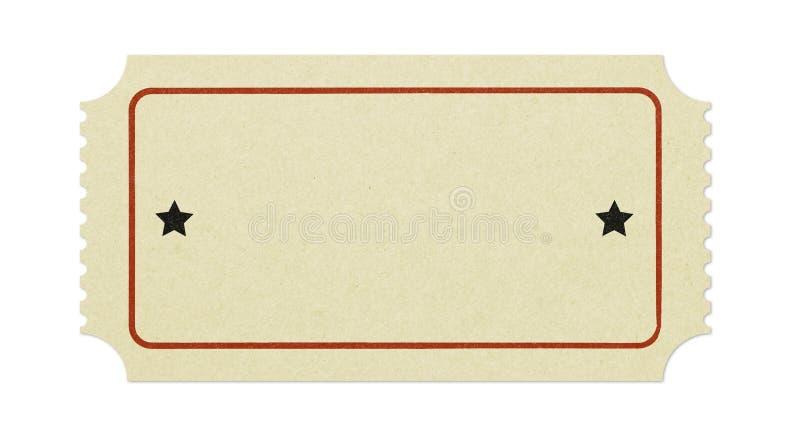 Vecchio biglietto in bianco immagini stock