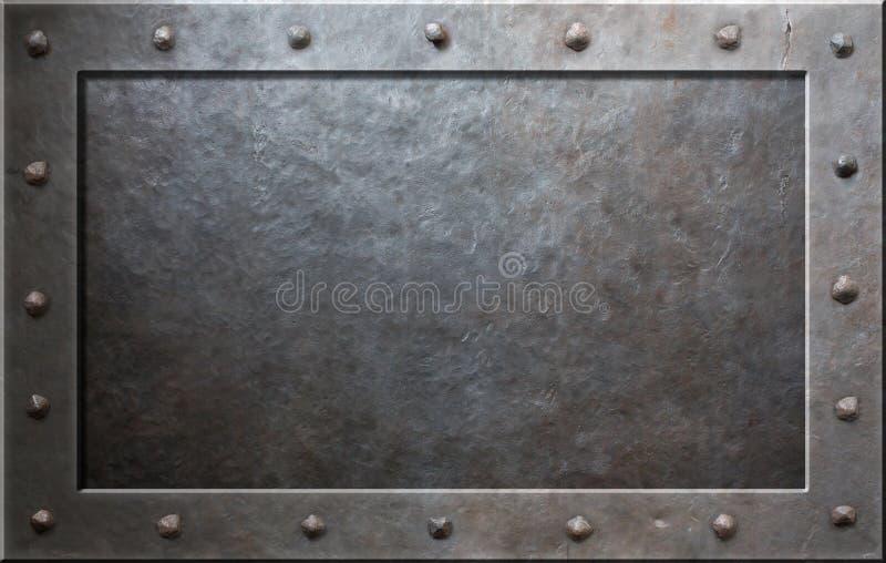 Vecchio blocco per grafici del metallo immagini stock