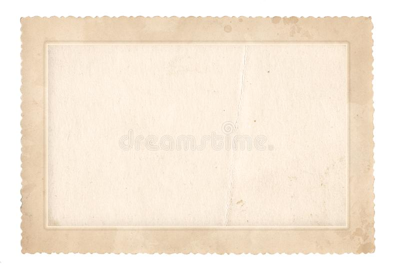 Vecchio blocco per grafici della foto Carta d'annata Retro scheda fotografia stock libera da diritti