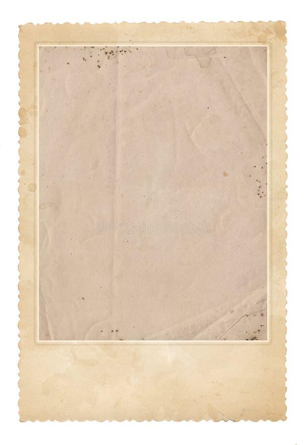 Vecchio blocco per grafici della foto Carta d'annata Retro scheda immagine stock libera da diritti