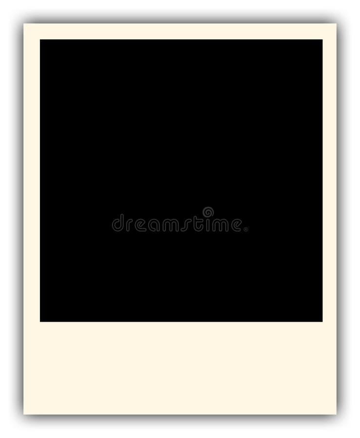 Vecchio blocco per grafici della foto del polaroid immagini stock libere da diritti