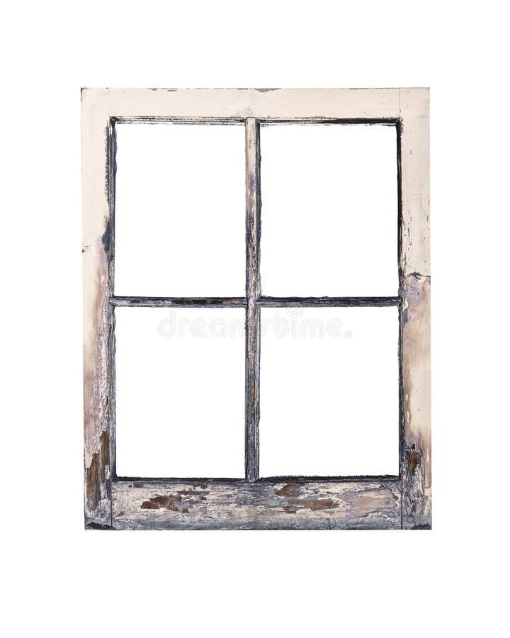 Vecchio blocco per grafici di finestra rustico immagini stock libere da diritti