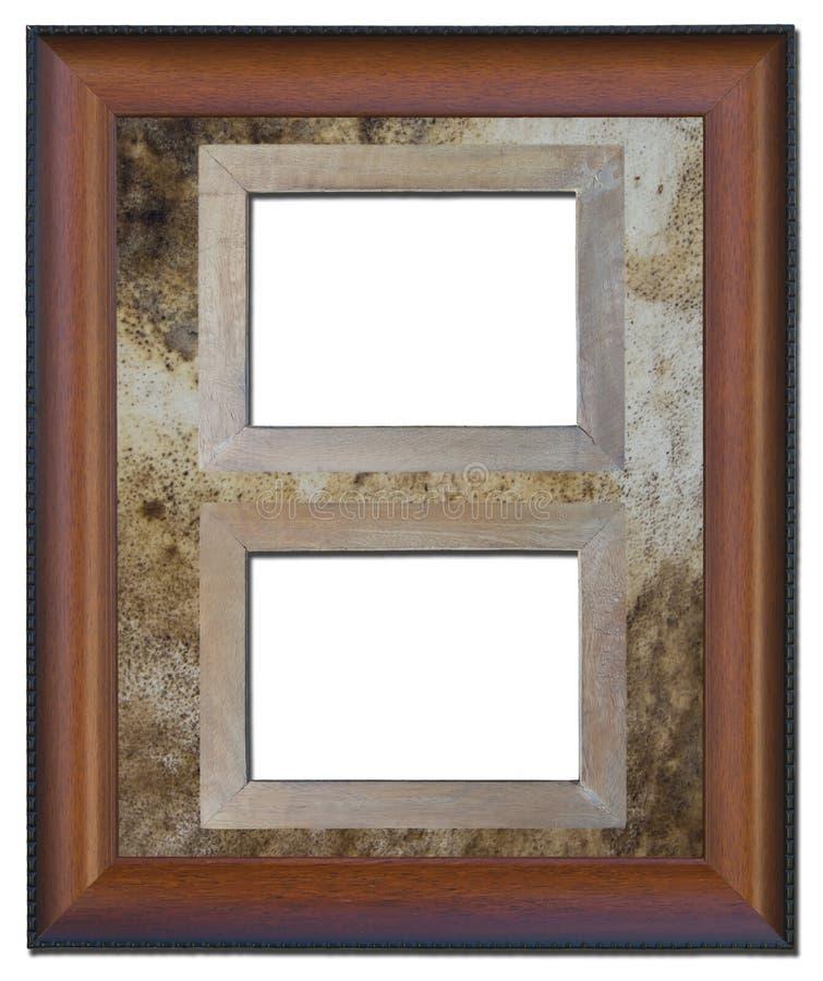 Vecchio blocco per grafici di legno isolato. fotografia stock