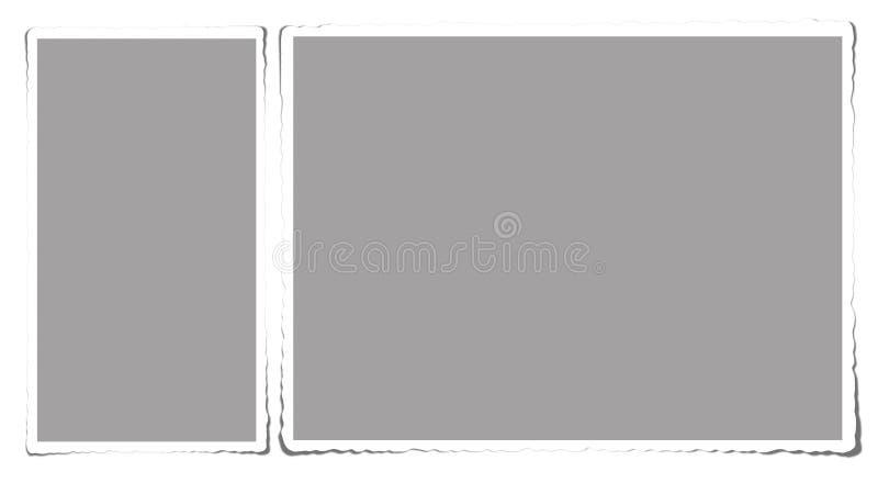 Vecchio blocco per grafici per la foto illustrazione vettoriale