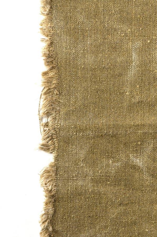 Vecchio bordo della tela di canapa fotografia stock