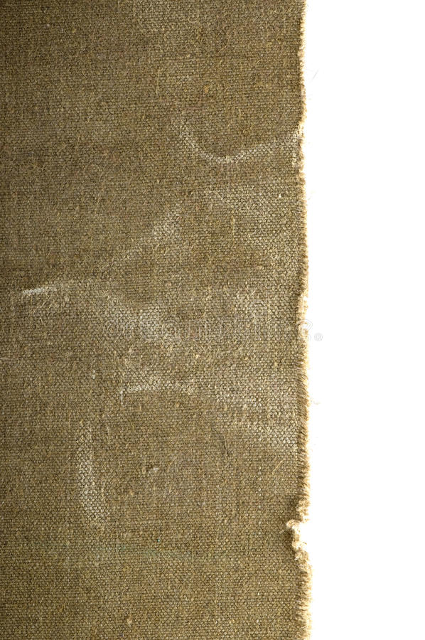Vecchio bordo della tela di canapa immagine stock libera da diritti