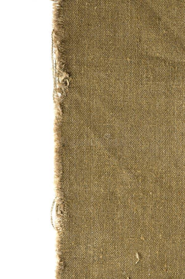Vecchio bordo della tela di canapa fotografie stock libere da diritti
