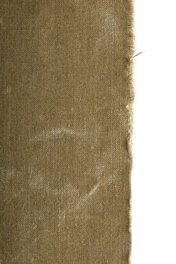 Vecchio bordo della tela di canapa immagine stock