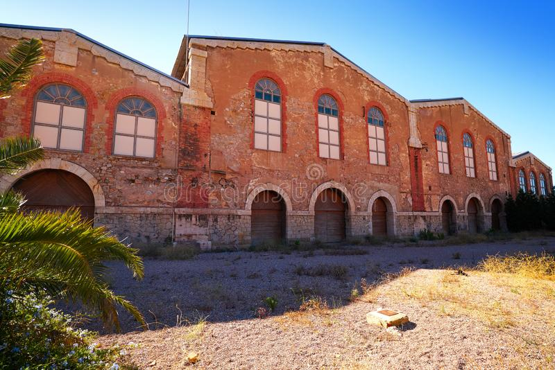 Vecchio brickwall in Puerto Sagunto a Valencia immagine stock