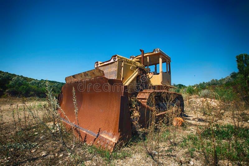 Vecchio bulldozer immagine stock