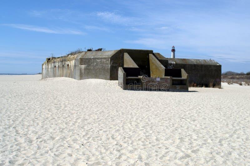 Vecchio bunker WW2 immagine stock