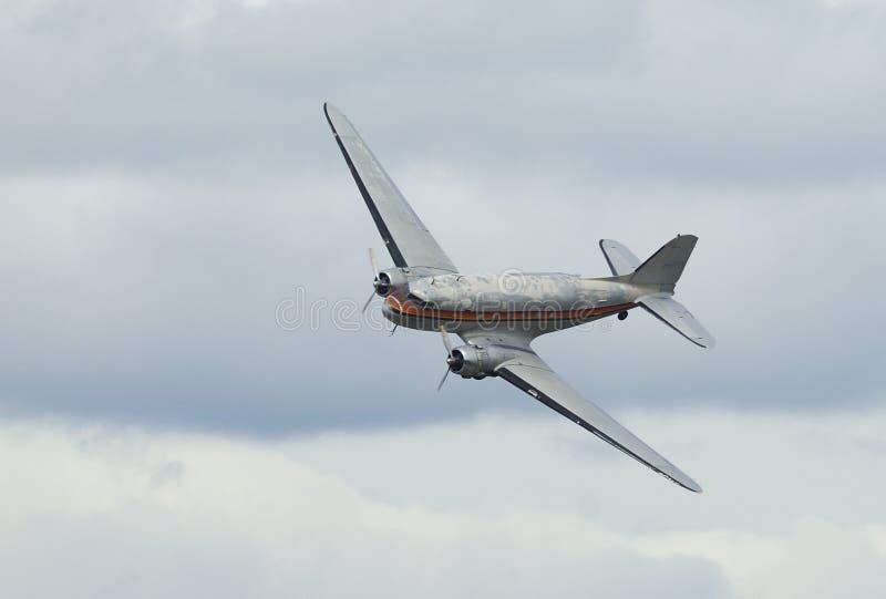 Vecchio C-47 piano Dakota della Douglas DC-3 fotografia stock libera da diritti