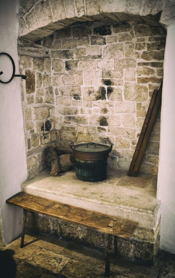 Vecchio Camino Usato Per Cucinare Immagine Stock - Immagine di ...