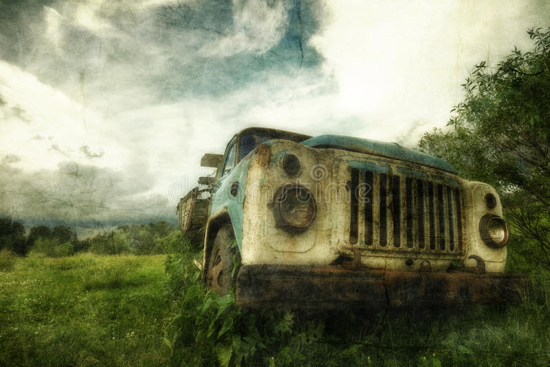 Vecchio camion fotografia stock libera da diritti