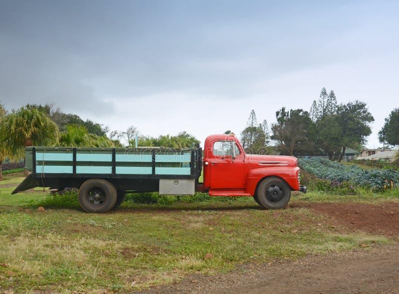 Vecchio camion dell'azienda agricola fotografia stock