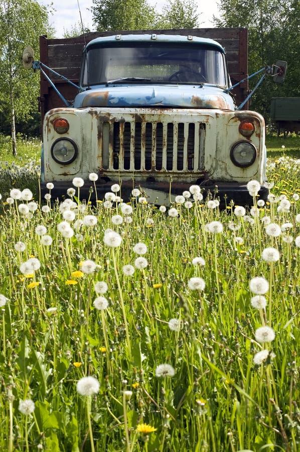 Vecchio camion nel concetto della natura fotografia stock