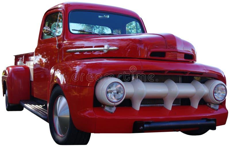 Vecchio camioncino rosso immagine stock