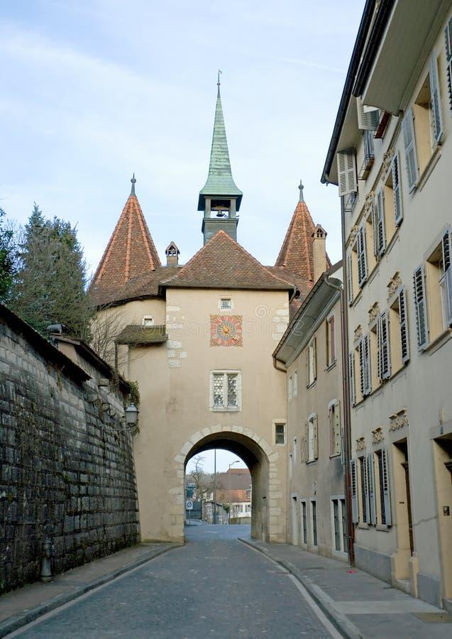 Vecchio cancello 2 della città immagine stock