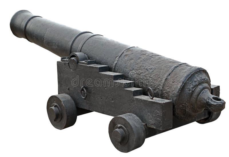Vecchio cannone della nave fotografia stock libera da diritti