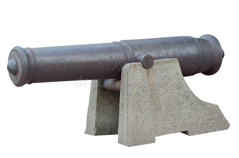 Vecchio cannone della nave fotografia stock