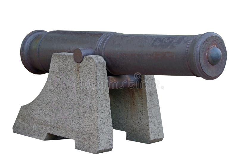 Vecchio cannone della nave immagine stock libera da diritti