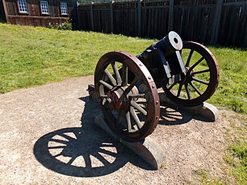 Vecchio Canon in Ross forte, California fotografie stock libere da diritti