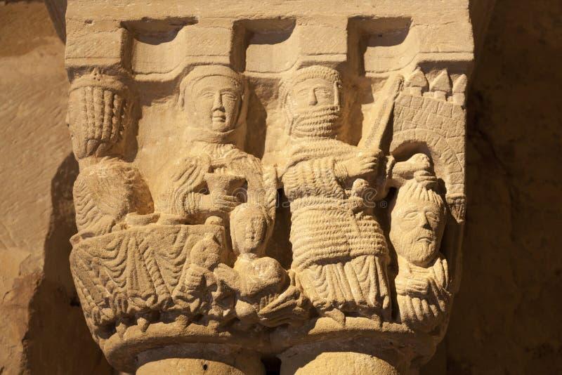 Vecchio capitale di colonna fotografia stock