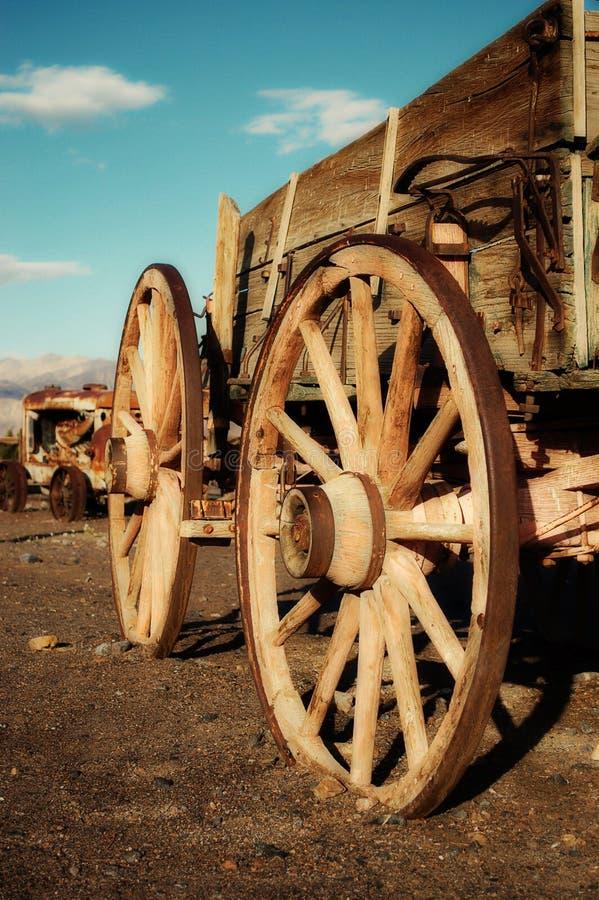 Vecchio carrello ad ovest di estrazione mineraria immagini stock libere da diritti