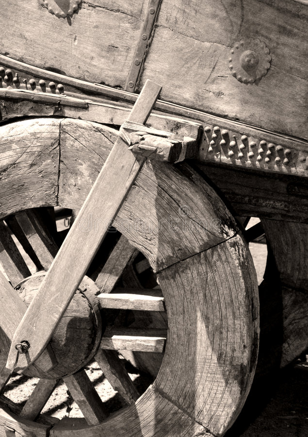Vecchio carrello del vagone fotografia stock