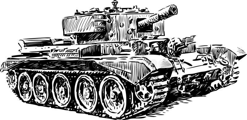 Vecchio carro armato royalty illustrazione gratis