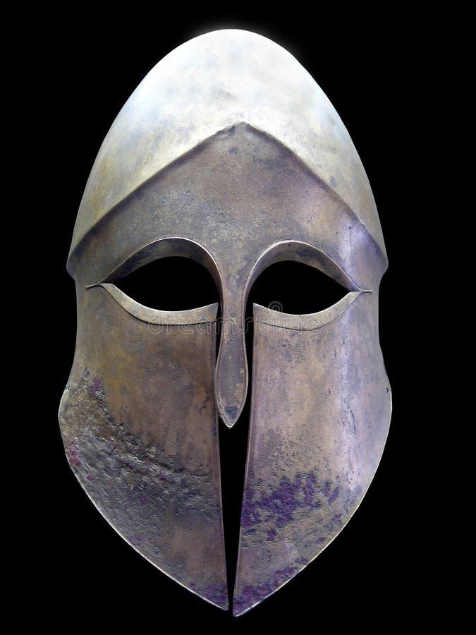 Vecchio casco del ferro immagini stock