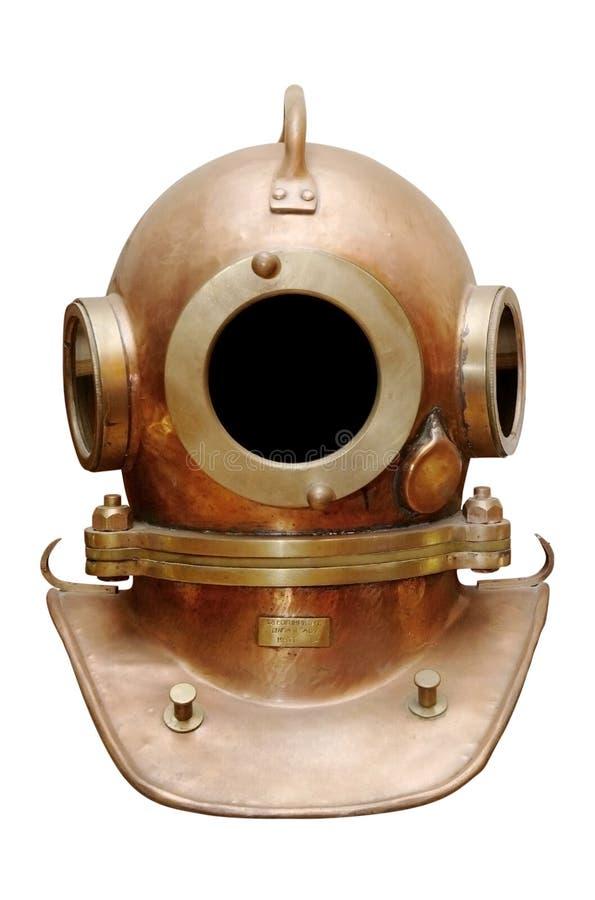 Vecchio casco di immersione subacquea fotografie stock