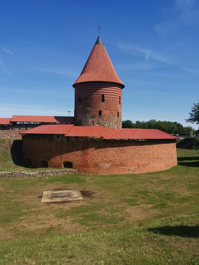 Vecchio casle a Kaunas Lituania immagine stock