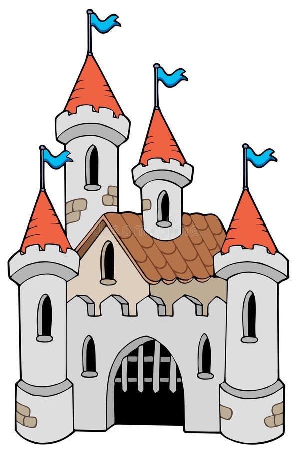 Vecchio castello illustrazione vettoriale