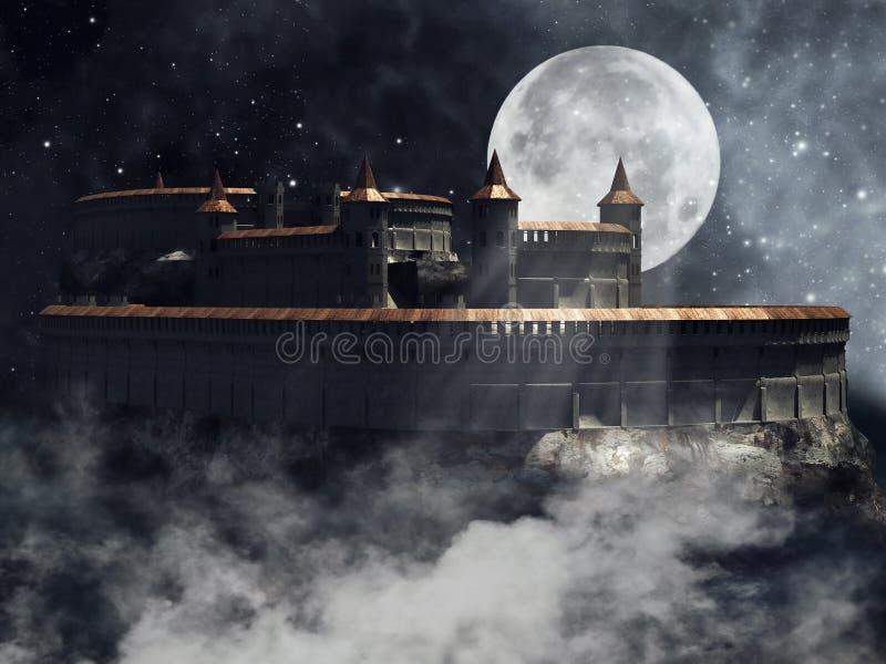 Vecchio castello del vampiro illustrazione di stock