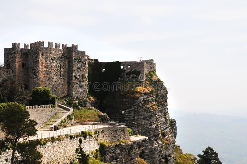Vecchio castello di Erice immagine stock libera da diritti