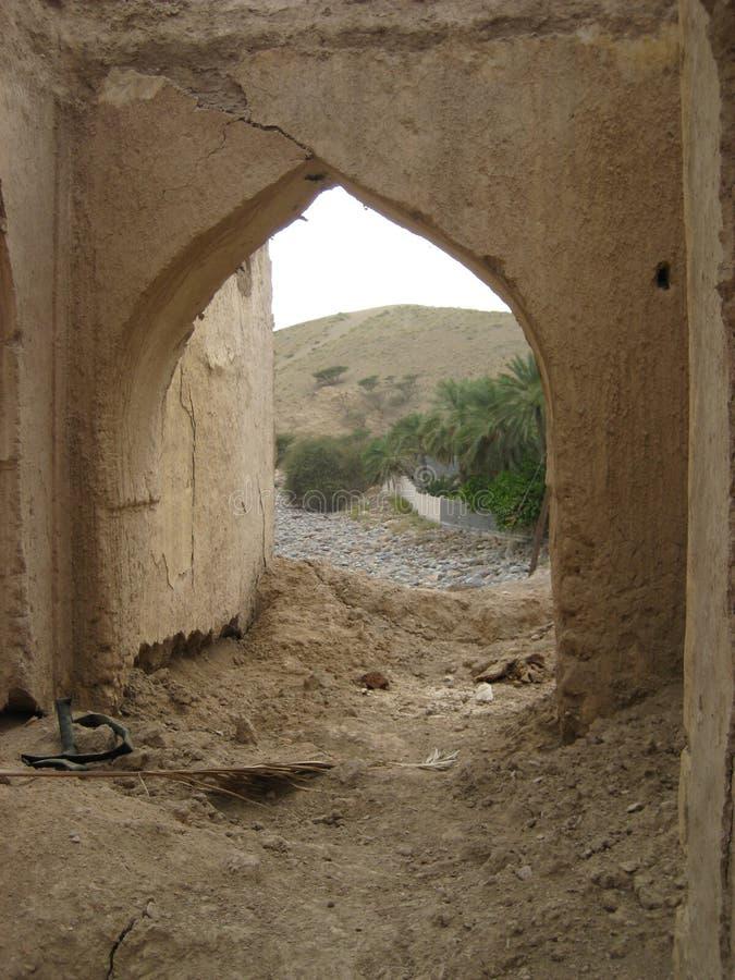Vecchio castello nel sultanato dell'Oman fotografia stock libera da diritti