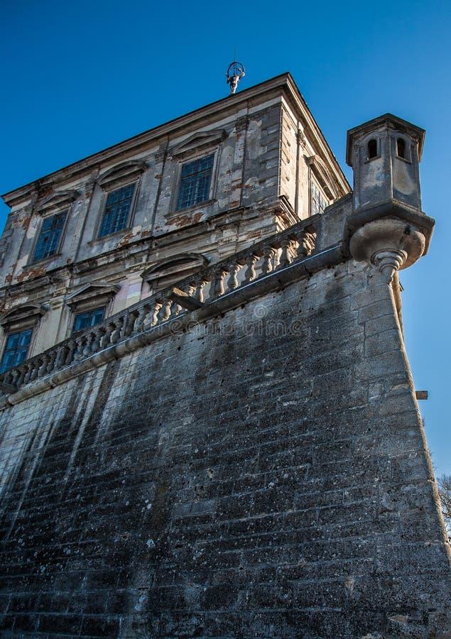 Vecchio castello in Pidgirtsi fotografia stock libera da diritti